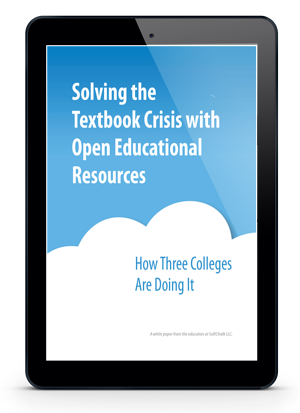 Solving the textbook crisis with open educational resources cover
